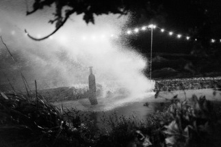 Storm Tide Breaking Over a Sculpture, WsM, 20/08/2016