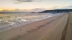A walker at sunset, WsM Beach, 03/06/2017