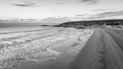 Same walker - now smaller and in B&W, WsM Beach, 03/06/2017