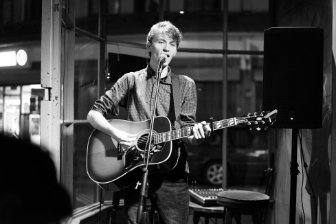 Seb hosting the open mic at Heroes, Weston-super-Mare, 12/10/2017