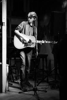 Seb pulling off his best Bob Dylan impression, Heroes Weston-super-Mare, 12/10/2017