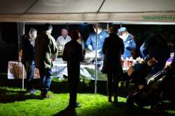 Queuing for Pork, Apple and Stuffing Rolls, Bonfire Night at WsM CC, 04/11/2017