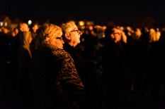 Onlookers enjoy the lighting of the bonfire, Bonfire Night at WsM CC, 04/11/2017