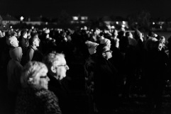 Crowds watch as the Guy is consumed by the bonfire, Bonfire Night at WsM CC, 04/11/2017