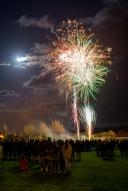 Fireworks under a bright Moon, Bonfire Night at WsM CC, 04/11/2017