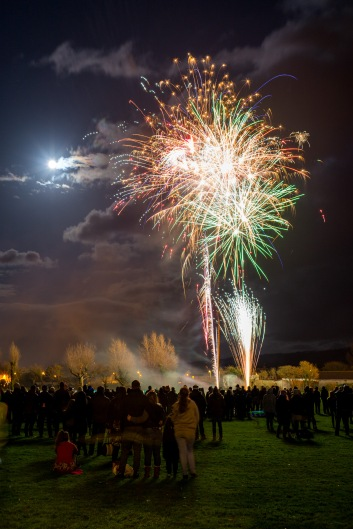 Fireworks under a bright Moon, Bonfire Night at WsM CC, 04/11/2017