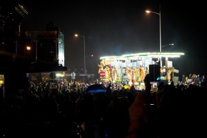 Soggy crowds enjoying the carnival, Weston Carnival, 10/11/2017
