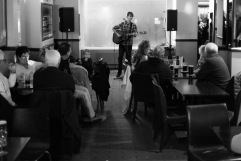 Seb entertaining at Raddy's Bar, Weston Carnival, 10/11/2017
