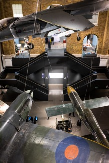 Once you've made it past the lawn cannons and in to the museum all you have to do is navigate past a Spitfire, Harrier Jump-jet and a V1 to make it to the exhibits, Imperial War Museum, London, 07/12/2017