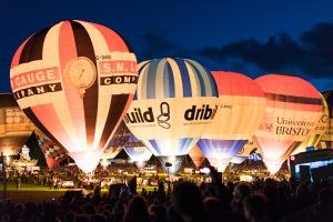 The Night Glow, Bristol Balloon Fiesta, Bristol, 11/08/2017