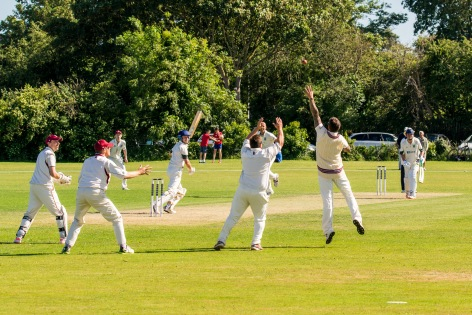 Wicket! Well, nearly, WsM CC vs North Perrott CC, WsM, 01/07/2017