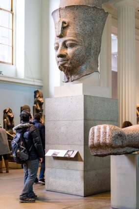 Example of Egyptian Sculpture, The British Museum, London, 05/01/2018