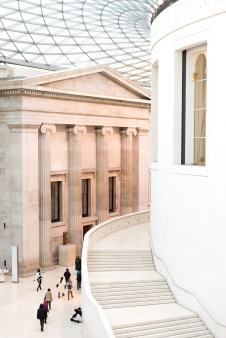 The main concourse of the museum with THAT roof, The British Museum, London, 05/01/2018