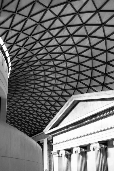 I had to do one black and white, The British Museum, London, 05/01/2018