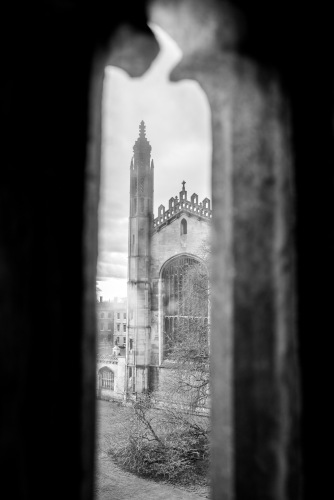 King's College Chapel from Great St.Mary's Church tower, Cambridge, 15/01/2018
