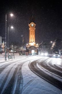 Looking resplendent in the snow, Epsom, 28/02/2018
