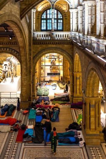 Heading for bed, Dinosnores, Natural History Museum, 23/03/2018